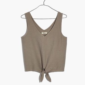 Madewell Texture and Thread Tie Front Tank